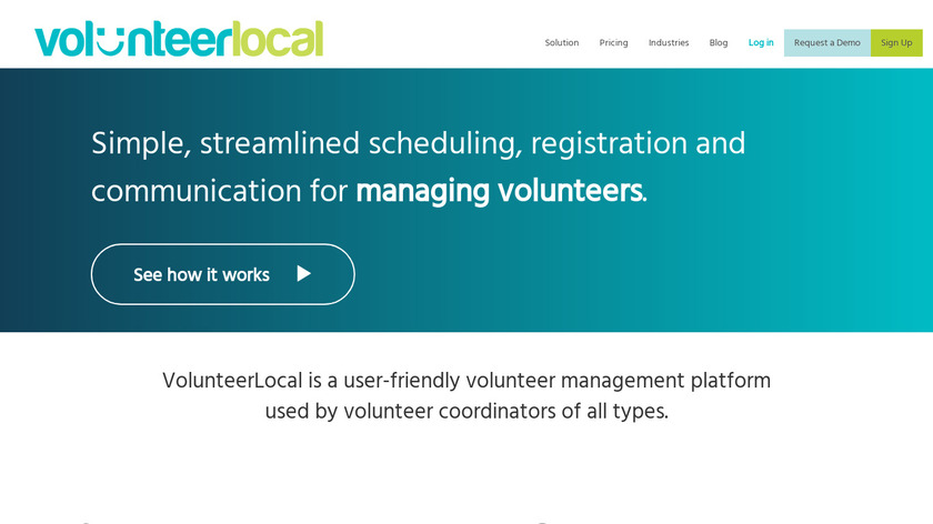 VolunteerLocal Landing Page