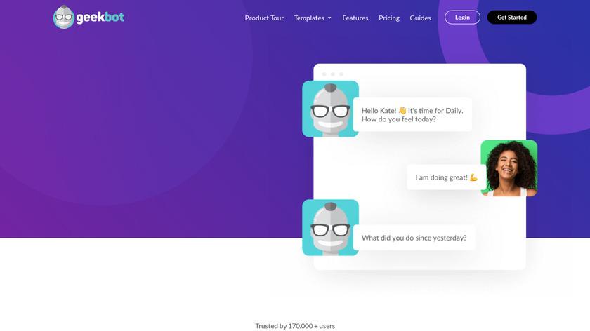 Geekbot Landing Page