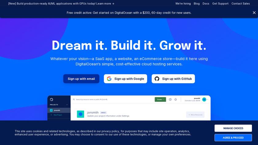 DigitalOcean Landing Page