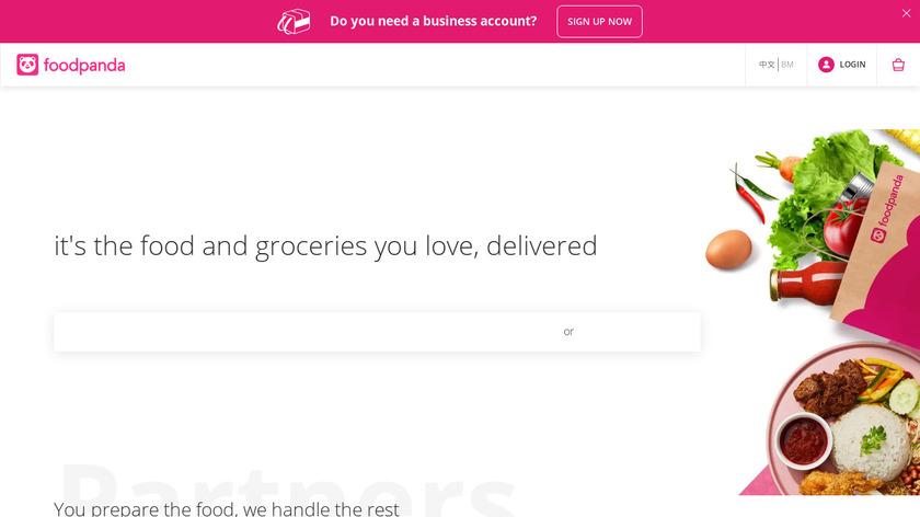 Foodpanda Landing Page