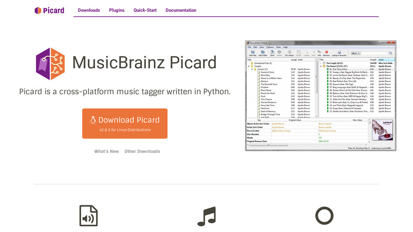 MusicBrainz Picard Landing Page