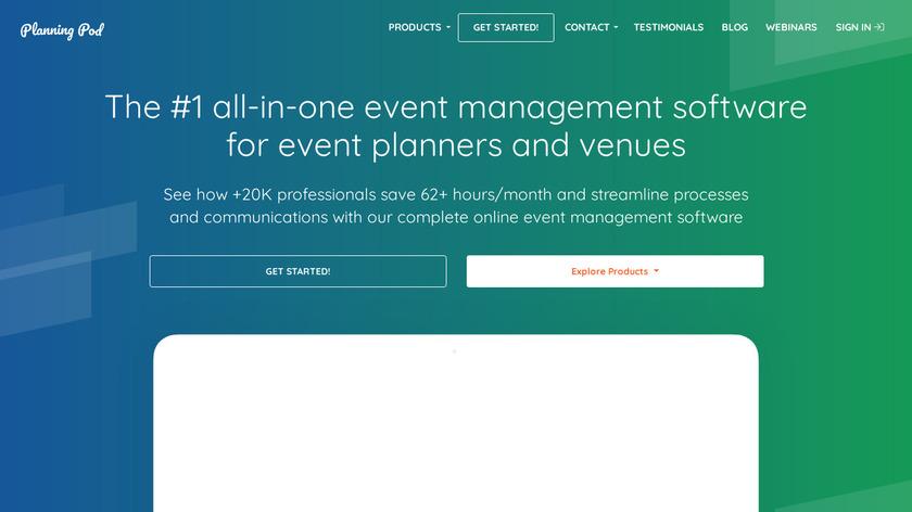 Planning Pod Landing Page