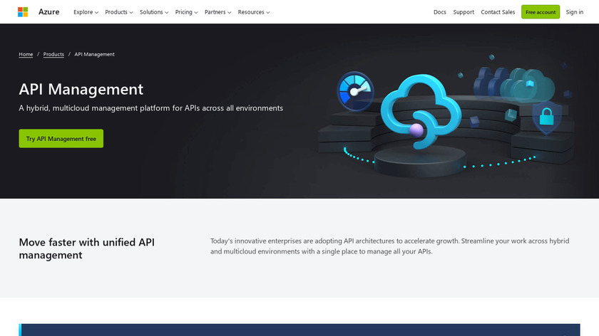 Azure API Management Landing Page