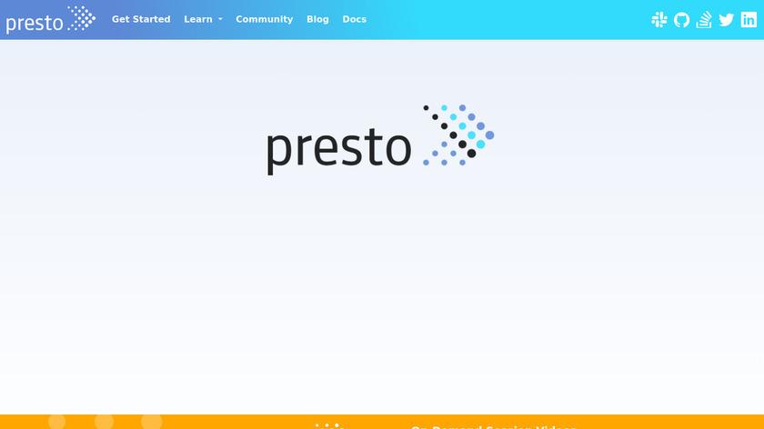Presto DB Landing Page