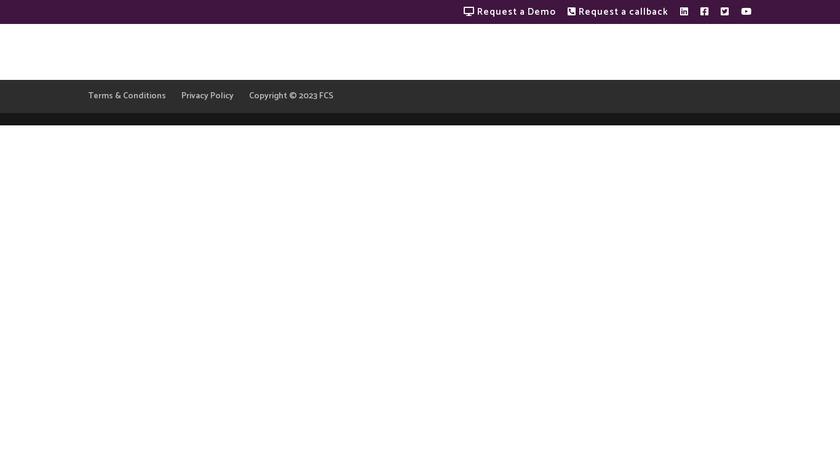 FCS Concierge Services Management Landing Page