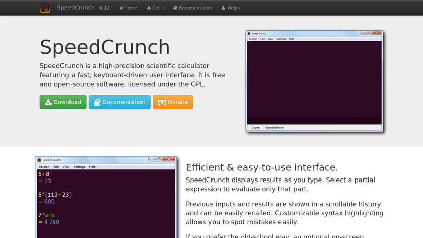 SpeedCrunch Landing Page