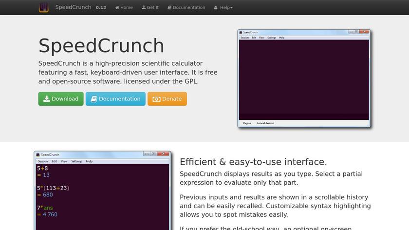 SpeedCrunch Landing Page