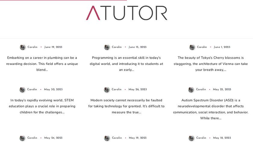 ATutor Landing Page
