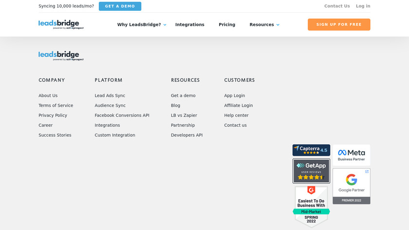 LeadsBridge Landing Page