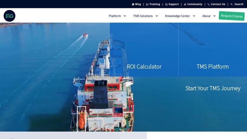 MercuryGate TMS Landing Page