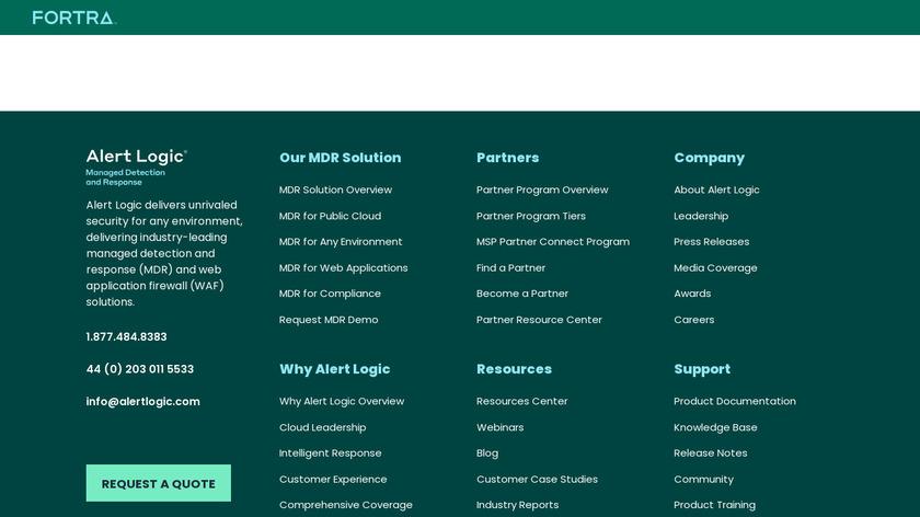 Alert Logic Threat Manager Landing Page