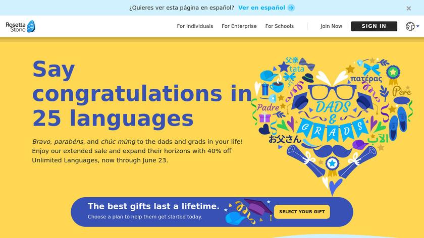 Rosetta Stone Landing Page