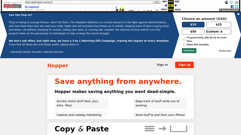 Hopper Landing Page