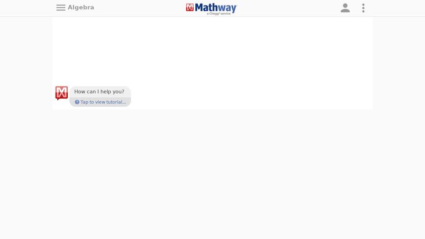 Mathway Landing Page