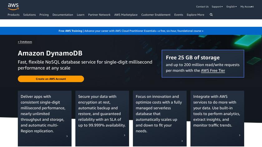 DynamoDB Landing Page