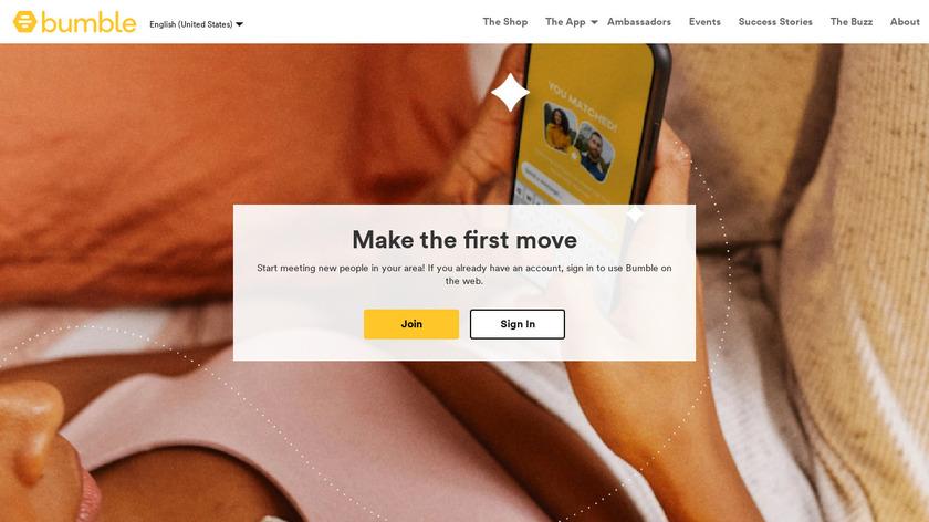 Bumble Landing Page