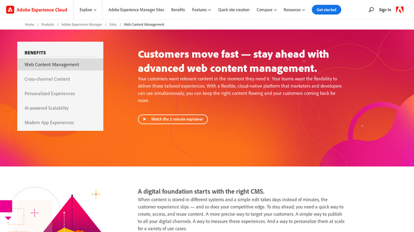 Adobe Experience Manager Landing Page