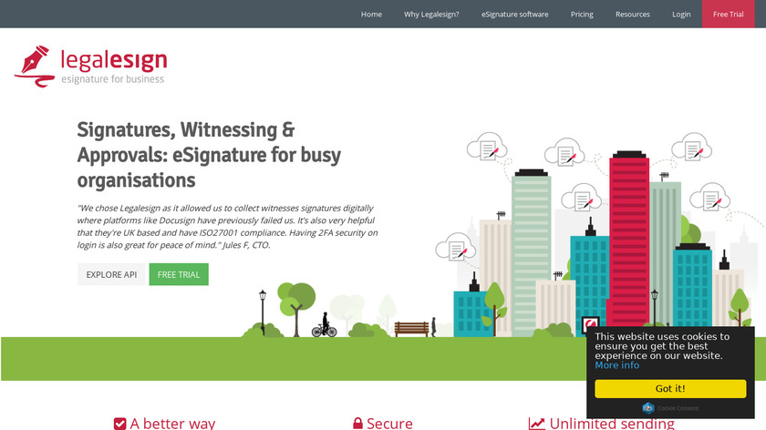 Legalesign Landing Page