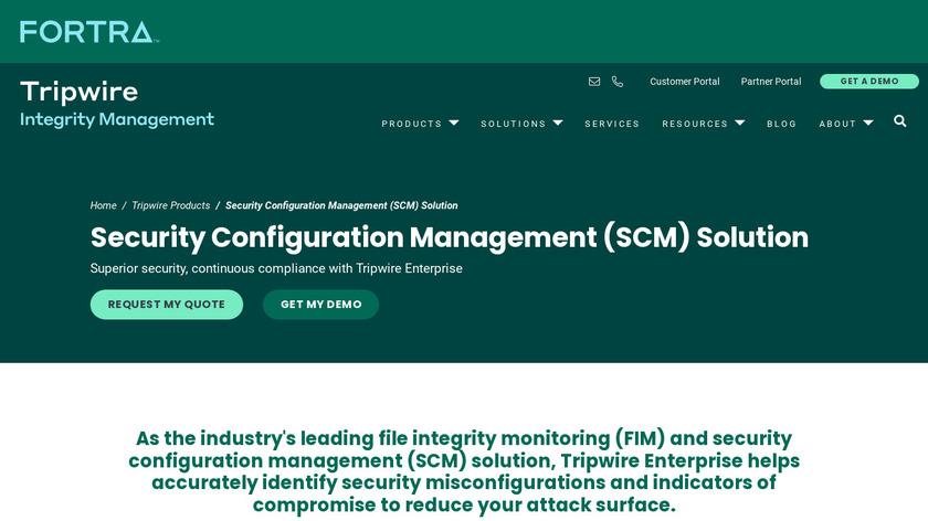 TripWire Enterprise Landing Page