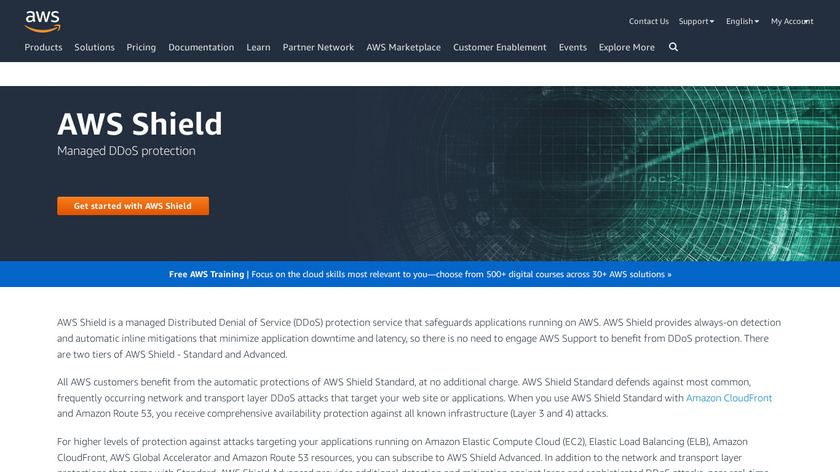 AWS Shield Landing Page