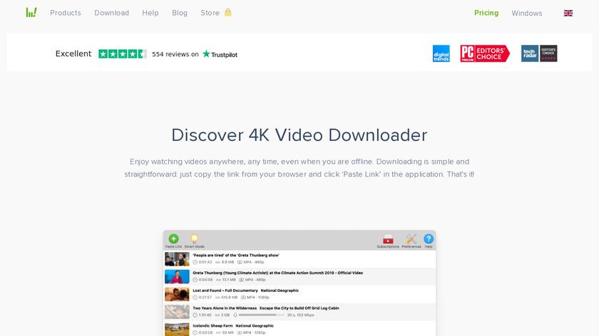 4k Video Downloader Landing Page