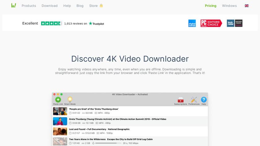 4k Video Downloader Landing Page