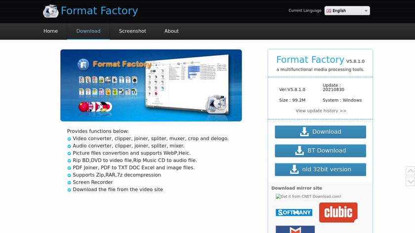 Format Factory Landing Page
