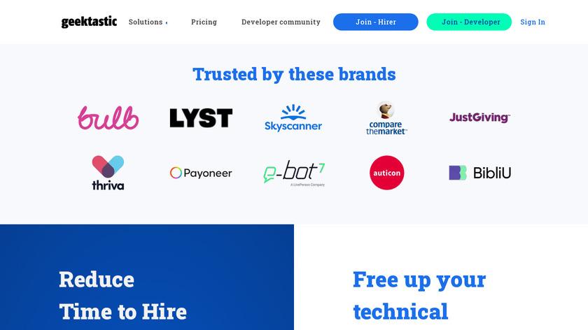 Geektastic Landing Page