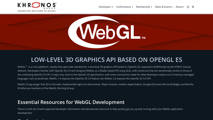WebGL Landing Page