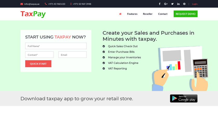 Taxpay Landing Page