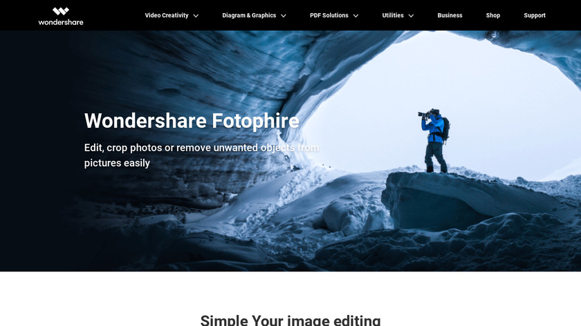 Fotophire Editing Toolkit Landing Page