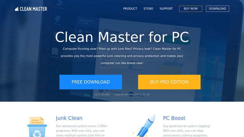 Clean Master Landing Page