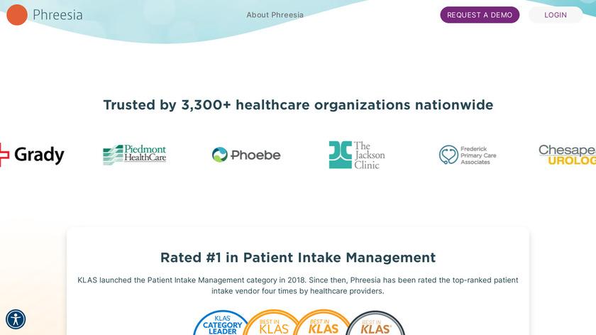 Phreesia Landing Page