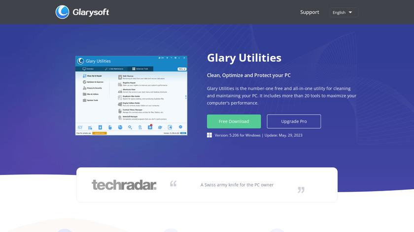 Glary Utilities Landing Page