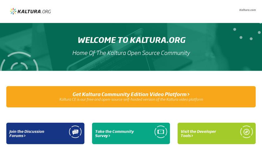 Kaltura Landing Page