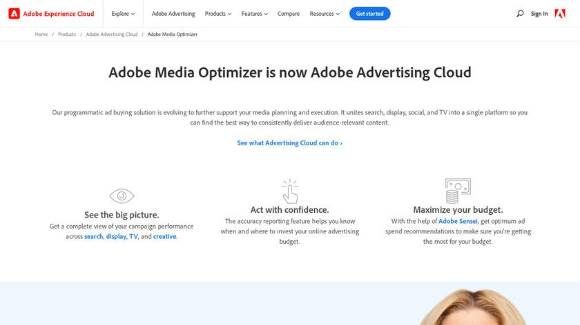 Adobe Media Optimizer Landing Page