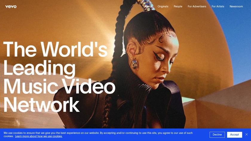 VEVO Landing Page