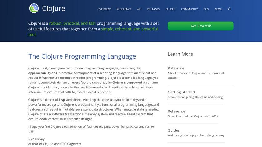 Clojure Landing Page