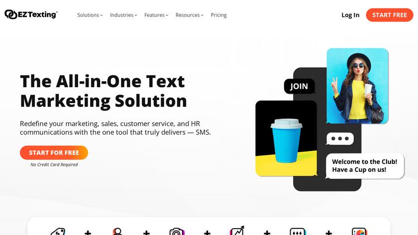 EZ Texting Landing Page