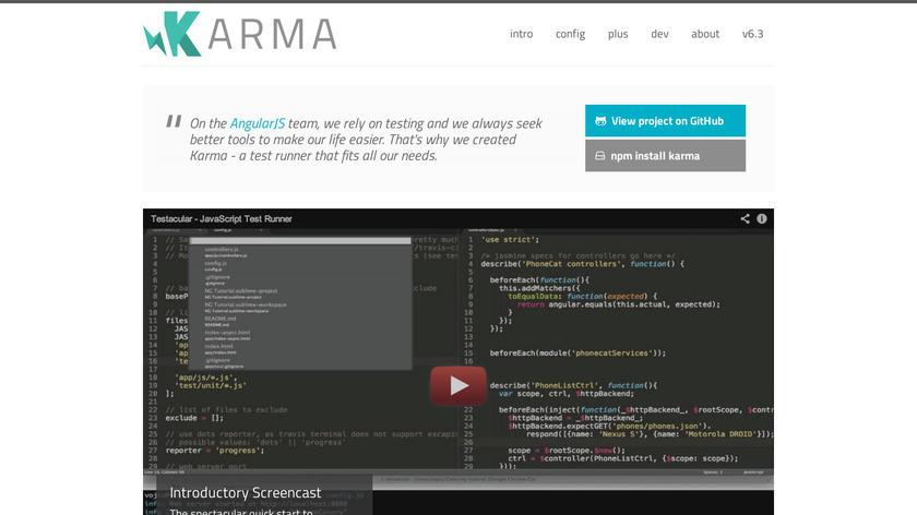Karma Landing Page