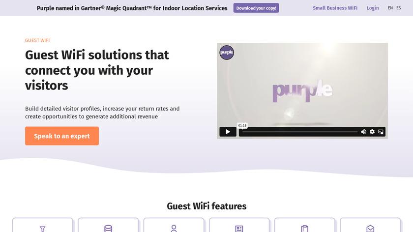 Purple WiFi Landing Page