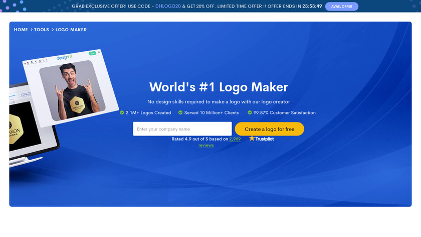 DesignHill Logo Maker Landing Page