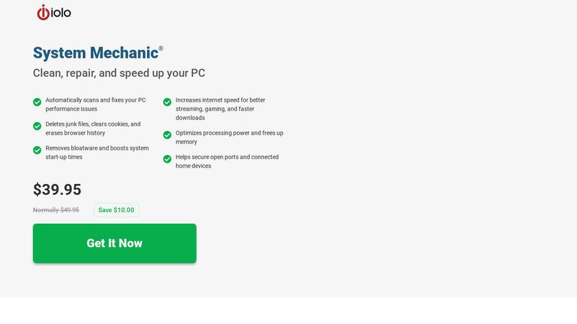 System Mechanic Landing Page