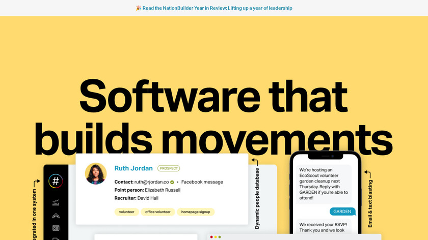 NationBuilder Landing Page
