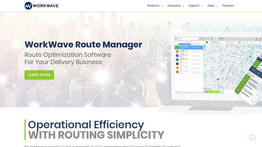 WorkWave Route Manager Landing Page