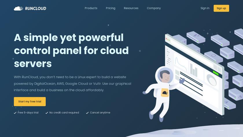 RunCloud Landing Page