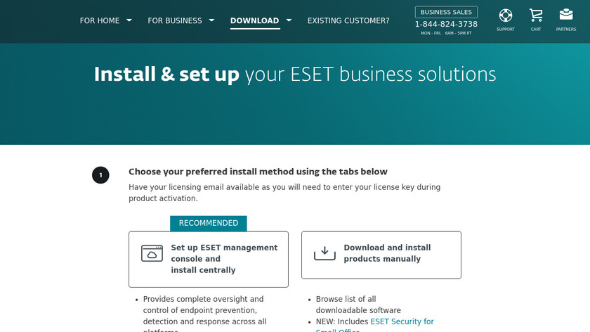 ESET Endpoint Security Landing Page