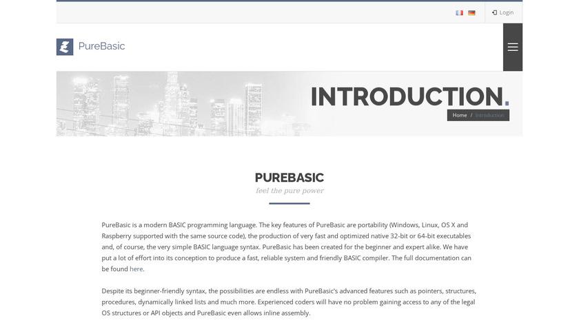 PureBasic Landing Page