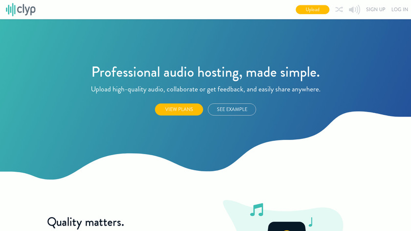 Clyp Landing Page