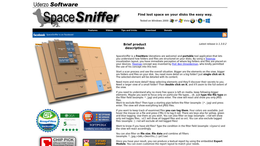 SpaceSniffer Landing Page